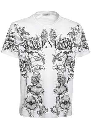 Dark Blooming Cotton Jersey T-shirt