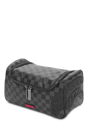 Henny Checkered Round Toiletry Bag