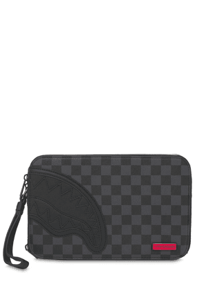 Henny Checkered Square Toiletry Bag