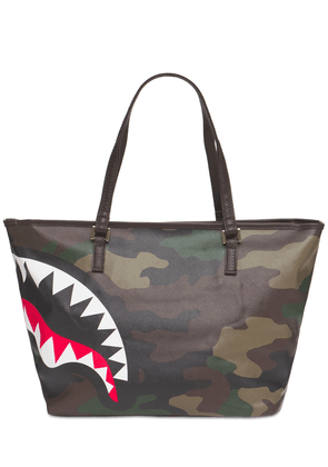 Check & Camouflage Tote Bag