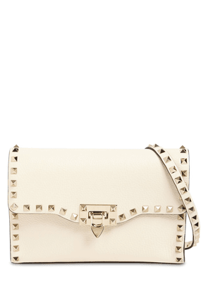 Small Rockstud Grained Leather Bag