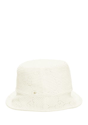 Gg Cable Knit Crochet Fedora Hat