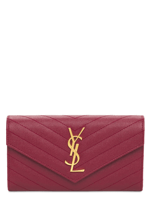 Large Monogram Quilted Leather Wallet