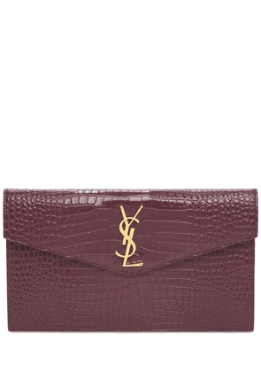 Medium Envelope Embossed Leather Pouch