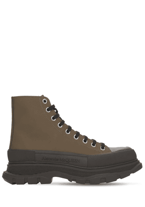 50mm Leather Lace-up Boot Sneakers