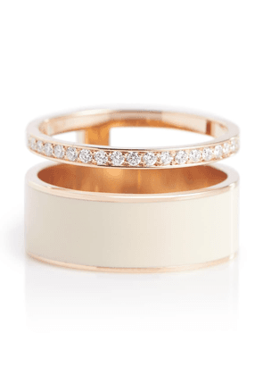 Berbere Module 18kt rose gold ring with diamonds