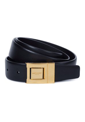 Buckled leather belt