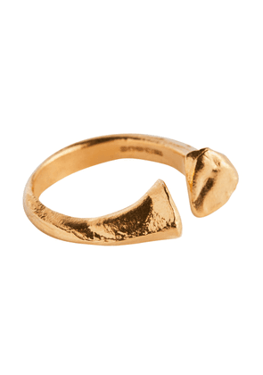 The Silhouette of Desire 24kt gold-plated ring
