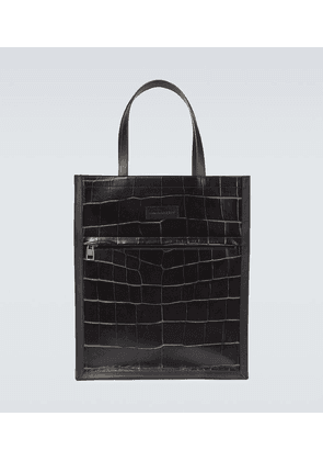 City leather tote bag