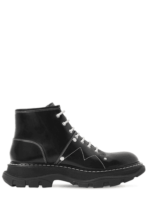 40mm Tread Studded Leather Ankle Boots