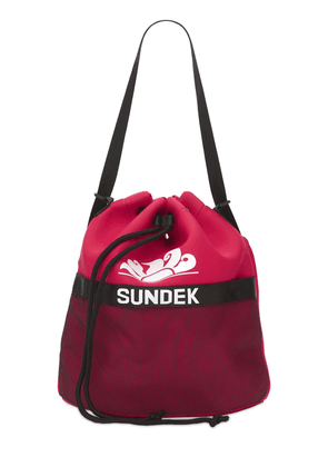 Logo Print Neoprene Sac Backpack