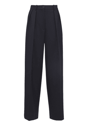 Pleated Double Wool Pants
