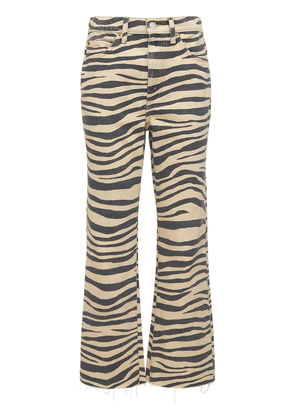 Printed 70s Loose Flared Jeans