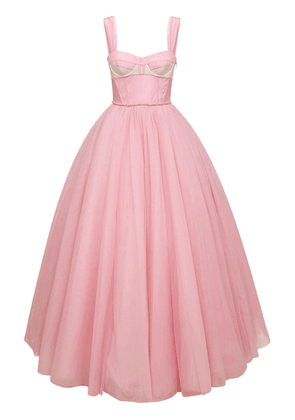 Stretch Tulle Bustier Gown