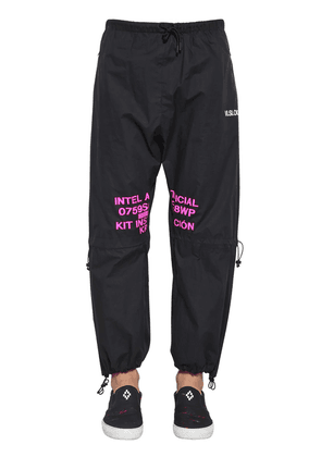 Printed Lettering Cotton Pants