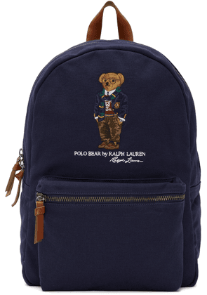 Polo Ralph Lauren Navy Bear Embroidery Backpack
