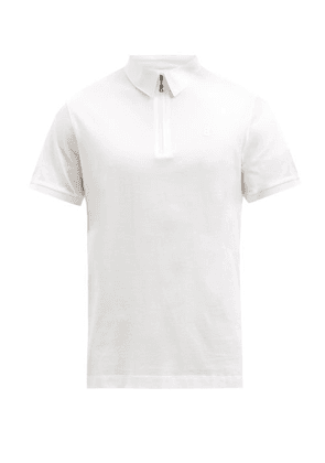 Bogner - Aires Zipped Cotton-jersey Polo Shirt - Mens - White