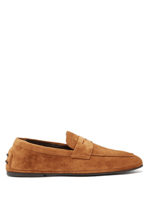 Tod's - Suede Penny Loafers - Mens - Brown