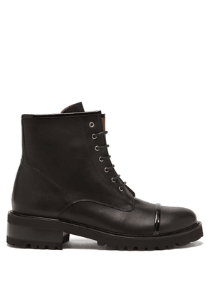 Malone Souliers - Bryce Leather Combat Boots - Womens - Black