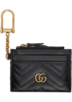 Gucci Black GG Marmont 2.0 Quilted Card Holder