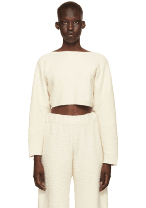 Lauren Manoogian Off-White Sleeves Pullover Sweater