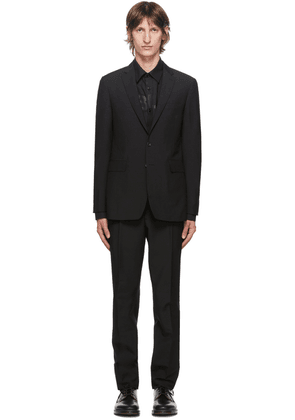 Burberry Black Wool Slim-Fit Suit
