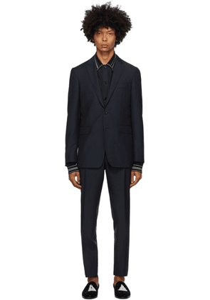 Burberry Blue Slim Suit