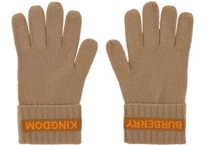 Burberry Beige Cashmere Logo & 'Kingdom' Gloves