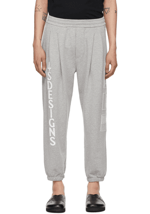 4SDESIGNS Grey Two Pleat Lounge Pants