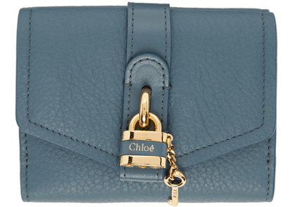 Chloé Blue Small Tri-Fold Aby Wallet