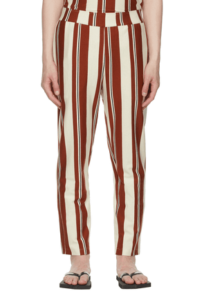 Opening Ceremony Off-White & Brown Jersey Striped Lounge Pants