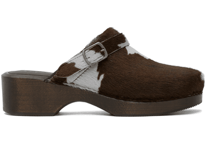 Re/Done Brown & Off-White 70s Classic Clogs