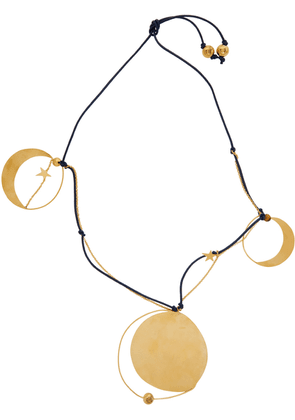 Loewe Navy & Gold Paula's Ibiza XL Ellipse Necklace