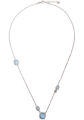 Alan Crocetti SSENSE Exclusive Silver & Blue Topaz Droplet Necklace