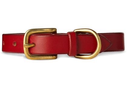 Maximum Henry Red Leather Collar