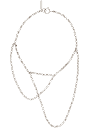 Justine Clenquet Silver Slim Necklace