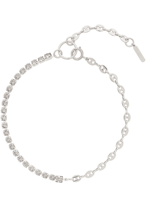 Justine Clenquet SSENSE Exclusive Silver & Grey Vic Necklace