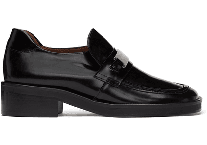 Abra Black Plate Loafers