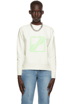 We11done White Slim Sweatshirt