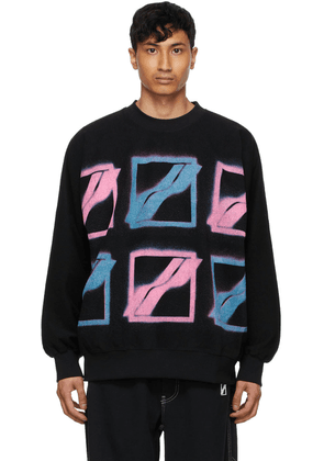 We11done Black & Multicolor Logo Sweatshirt