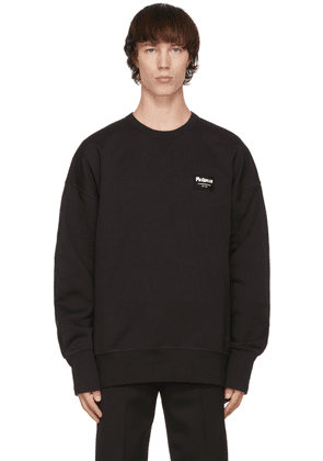 Alexander McQueen Black Graffiti Badge Sweatshirt