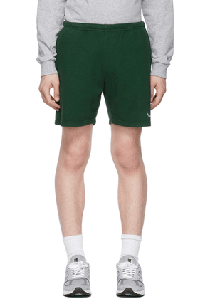 Museum of Peace & Quiet SSENSE Exclusive Green Gym Word Mark Shorts
