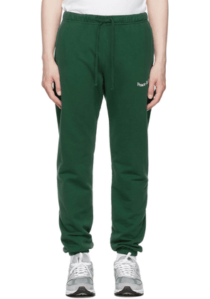 Museum of Peace & Quiet SSENSE Exclusive Green Word Mark Lounge Pants