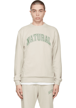 Museum of Peace & Quiet SSENSE Exclusive Beige Terry 'Natural' Sweatshirt