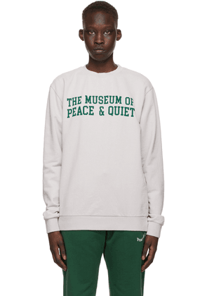 Museum of Peace & Quiet Grey Cotton Campus Sweatshirt