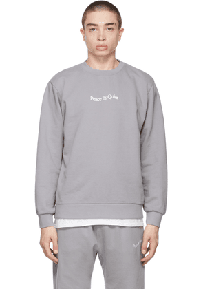 Museum of Peace & Quiet Grey Word Mark Sweatshirt