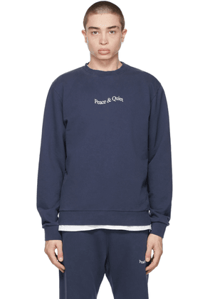 Museum of Peace & Quiet Navy Word Mark Sweatshirt