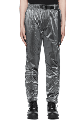 C2H4 SSENSE Exclusive Grey Stai Buckle Track Pants