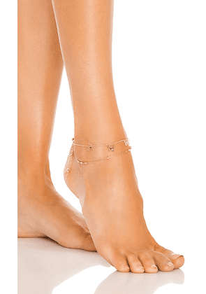 8 Other Reasons Butterfly Anklet in Metallic Gold.
