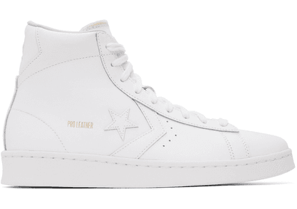 Converse White Pro Leather High Sneakers